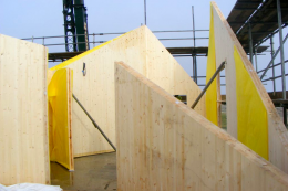 Cross laminated timber panels were used to construct The Dune House in Suffolk by Mole Architects