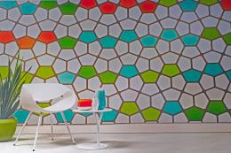 Go for bold..peel and stick wall tiles are fun and easy to use