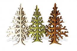 Recycled cardboard Christmas trees by Estonian Kristi Tamming, etsy.com