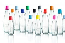 Retap re-useable glass water bottles are ideal for carrying around in a bag. From £10. www.greentulip.co.uk