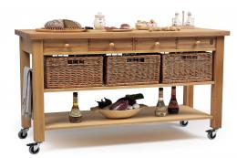 Eddingtons produces a range of kitchen trolleys made in Europe from FSC-certified solid beech. Shown here is the Lambourn 4-drawer trolley, with lockable castors, £895 at John Lewis www.johnlewis.com