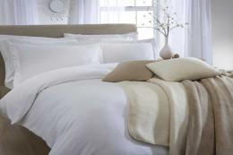 Stowe organic cotton flannelette bedlinen from The Fine Cotton Company. From £32 for a single sheet