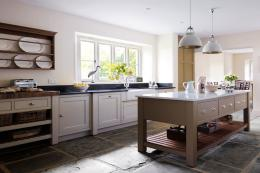 Martin Moore & Co make high quality wooden kitchens with freestanding pieces such as cook's tables/islands