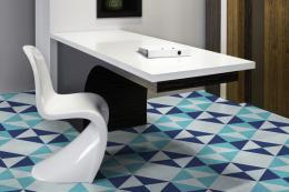 Blue Diamond design on vinyl flooring by Murafloor, www.murafloor.com