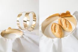 Bread and Love  - a perfect wedding gift. Two metal rings when combined with a napkin become a lovely bread basket. 85 euros, martinazua.com
