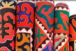 Colourful shyrdak rugs from www.feltrugs.co.uk