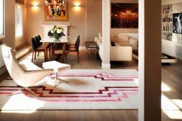 Hand-knotted Deco rug by Thomas Griem for Jacaranda. POA