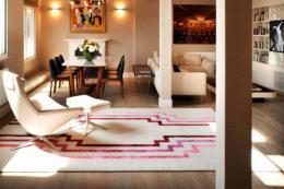 Hand-knotted Deco rug by Thomas Griem for Jacaranda. POA
