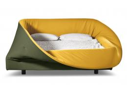 Colletto Bed from Lago Studio has a soft foam ring that can be raised to make a draught-free nest. POA, www.lago.it