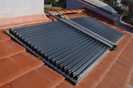 Solar panels to provide hot water for a home