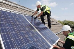 It's estimated a million UK houses could be fitted with solar panels to generate electricity by 2015