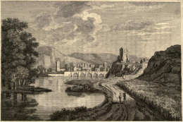 An engraving of Inverness by Thomas Pennant, 1771