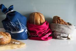 Cornwall-based Helen Round's Coastal collection linen bread bags will keep bread fresher for longer, £19.95, www.helenround.com