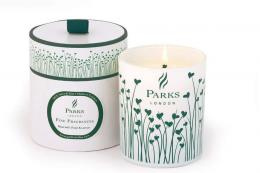 Delicious new spring fragrance from UK candle makers Parks Candles - rose, violet and lemon. Soy wax, £33. parkscandles.com