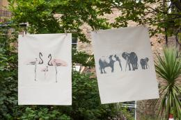 London-based Space 1a Design tea towels were inspired by a trip to Africa. Made from unbleached organic cotton, £9.95. www.space1a.com