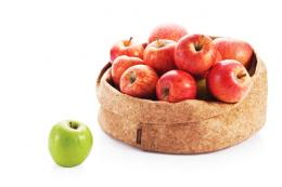 Adjust-A-Bowl foldable bowl made from thin layer of cork attached to cotton, from £32 www.greentulip.co.uk