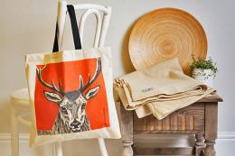 For your wildlife loving friends, an Animal Ink bag from Perkins & Morley is a perfect present..useful and lovely to look at. Deer tote bag, unbleached cotton, printed in the UK, £8.99. www.perkinsandmorley.com