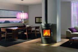 The Rika Twist with 360 degree rotation, 8kW, 79.3% efficiency, £4,048. find it at euroheat.co.uk