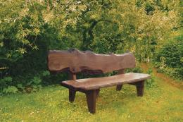 Celtic Forest furniture is made from oak & larch trees up to 300 yrs old growing on a Celtic battlefield site in west Wales. Trees selected are at the end of their natural lifespan & permission from the authorities is needed before felling. Pembroke oak bench £995. www.celticforest.co.uk