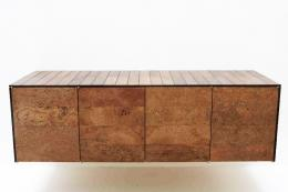Bespoke cork wall-hung sideboard by Joe Pipal www.pipal.co.uk