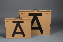 The ByAlex A Stool comes flat-packed for easy wrapping..www.byalex.co.uk