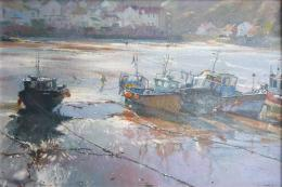 Shimmering Light at Low Water - Staithes by David Curtis