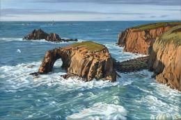 Stormy Evening, Land's End, by Margaret Heath