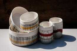 Reed dishes, £25-£50 by Kyra Mihailovic. Handmade in Britain