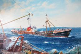 Hauling and Towing, Deep Sea Trawling 1960s by Jenny Morgan