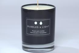 English Rose scented soy wax candle by Bubbles & Light, hand-poured in Hampstead, north London. Pure essential oils are used in the fragrance. £25, www.bubblesandlight.london