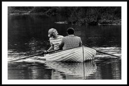 Couple in a boat - fashion shoot for Menswear Magazine, 1969, shot using 35mm Olympus camera