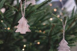 decorations made from wood, wool or pine cones are far preferable to new plastic ones