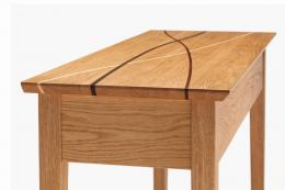 Jonathan Pearce Fine Furniture - the designer hand makes this Winding Paths coffee table from oak, fumed oak, walnut and sapele, around £1,200. H47xL98xD52cm