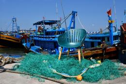 Made from recycled fishing nets, DuraOcean Nassau chair, set £179 at Robert Dyas/Eden Collection