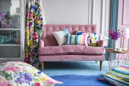 bluebellgray products encompass a wide range of homewares, from furniture to cushions via bedding, curtains, tassels and chinaware