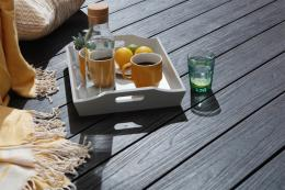 Leeds-based Prime Decking makes its decking planks made from waste plastic and wood