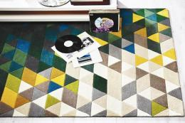 Illusion Prism hand-tufted wool rug at Modern Rugs, a Goodweave partner, prices from £79.95
