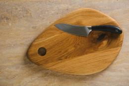 Klip European oak oval wooden chopping board by Bristol's Konk Furniture at Wearth London, £39