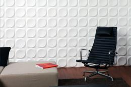 3D wall covering from Dutch company 3D Walldecor is made from bamboo pulp