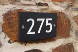Recycled plastic coffee cup wall numbers from A Short Walk