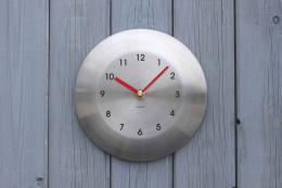 Stainless steel clock by A Short Walk