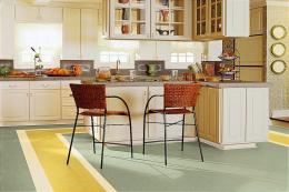 Armstrong makes linoleum flooring such as its Marmorette line POA. www.barrowclark.com