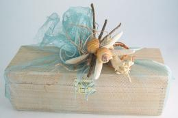 If you saw seashells lying on the seashore..well, bring them home and use for gift decoration