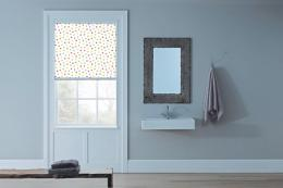 Polka dot blind from www.blocblinds.co.uk. Prices for BlocOut blinds start at £120