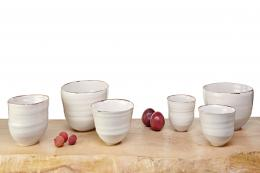 Bronze rim collection by Kirsty Adams Ceramics, prices from £36. Photo by Matthew Booth