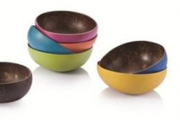 Colourful coconut shell bowls are perfect for nibbles or for nicnacs. From £6, www.greentulip.co.uk