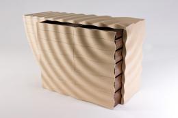 Ripple chest by Edward Johnson, ash, American black walnut, Cedar of Lebanon. wwwejbespokefurniture.co.uk