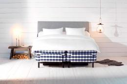 Top Swedish brand Hastens' Novoria sprung mattress and divan are made in Sweden.