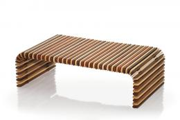 Luxor palm wood coffee table, £910 from Australian brand Pacific Green, which is new to the UK. www.pacificgreen.net