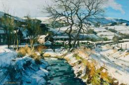 John McComb's Winter Morning Sunlight, River Tame, Delph